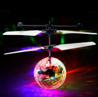 Funny LED Lighting Shining Mini Drone & RC Helicopter Aircraft Flying Ball