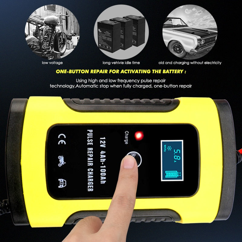 110V To 220V To 12V 6A Full Automatic Auto Car Battery Charger