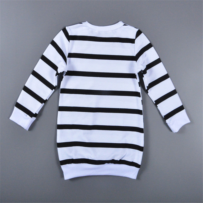 Girls Striped T-Shirt +  Flower Legging Pant 2pcs Set