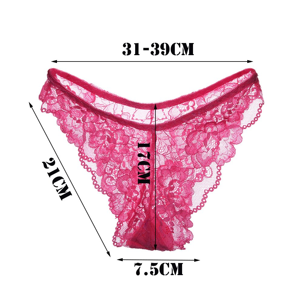 Low Waist Lace Floral Sheer Women G-string Thongs