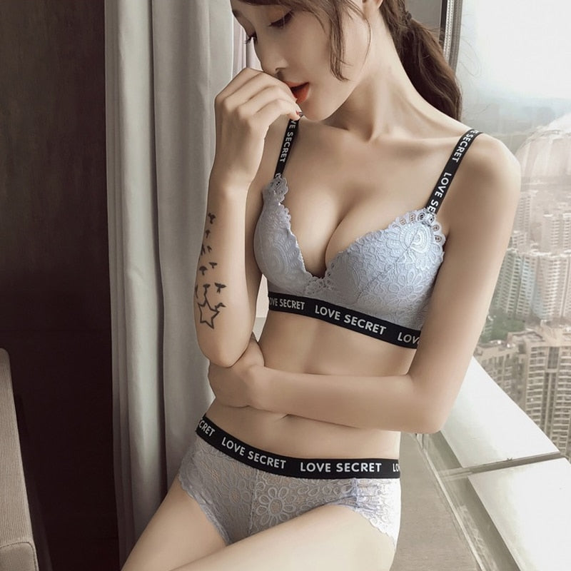 Breathable Seamless Push Up Adjusted 3/4 Cup Lace Bra