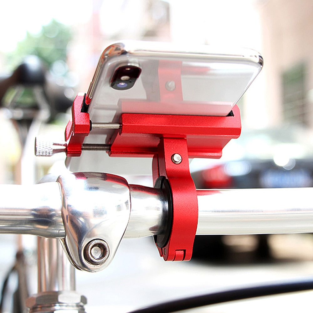 Anti-Shake Aluminum Alloy Bicycle Mobile Phone & GPS Navigation Holder