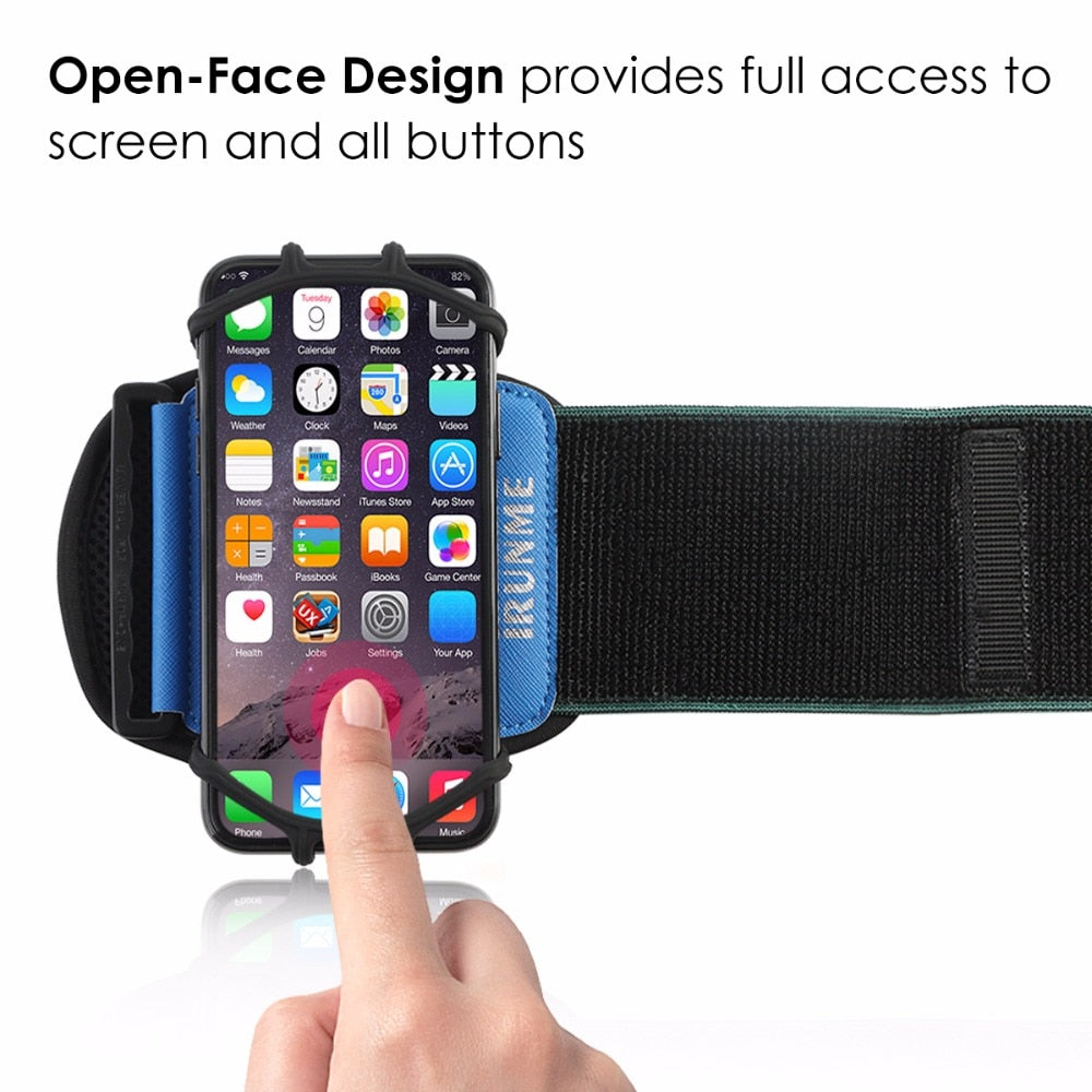 Universal Rotatable Wrist Running Sport Arm Band With Key Holder For 4-6 inch Phone