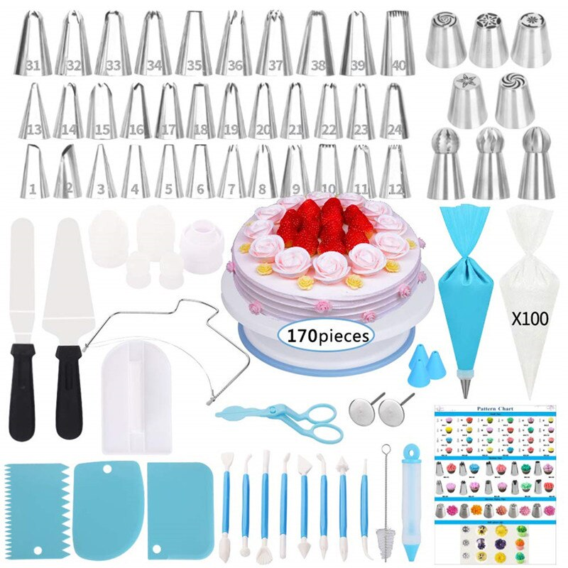 Pastry Nozzles For Cream Confectionery Bags Icing Piping Nozzles Tips Baking & Decorating Tools For Cakes