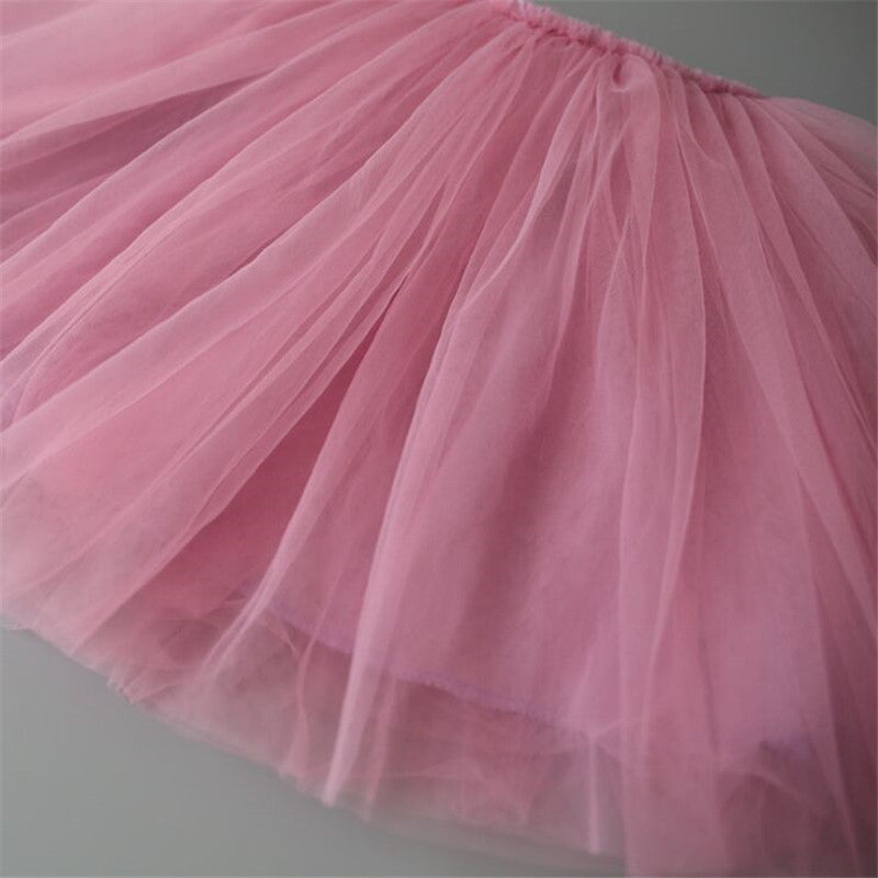 Kid Girls Skirts Princess Style Pettiskirt
