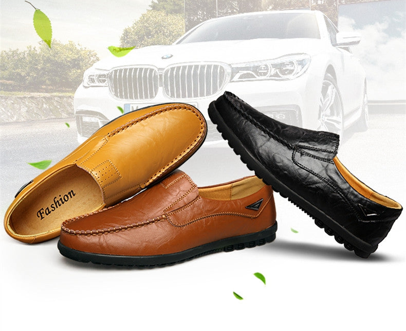 Breathable Slip-on Genuine Leather Driving Men's Moccasins