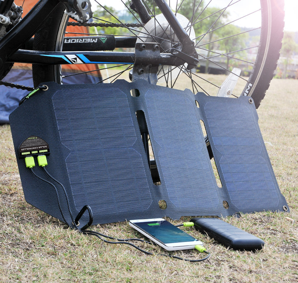 Foldable Dual USB 21W Solar Panel For Batteries Phone Charging