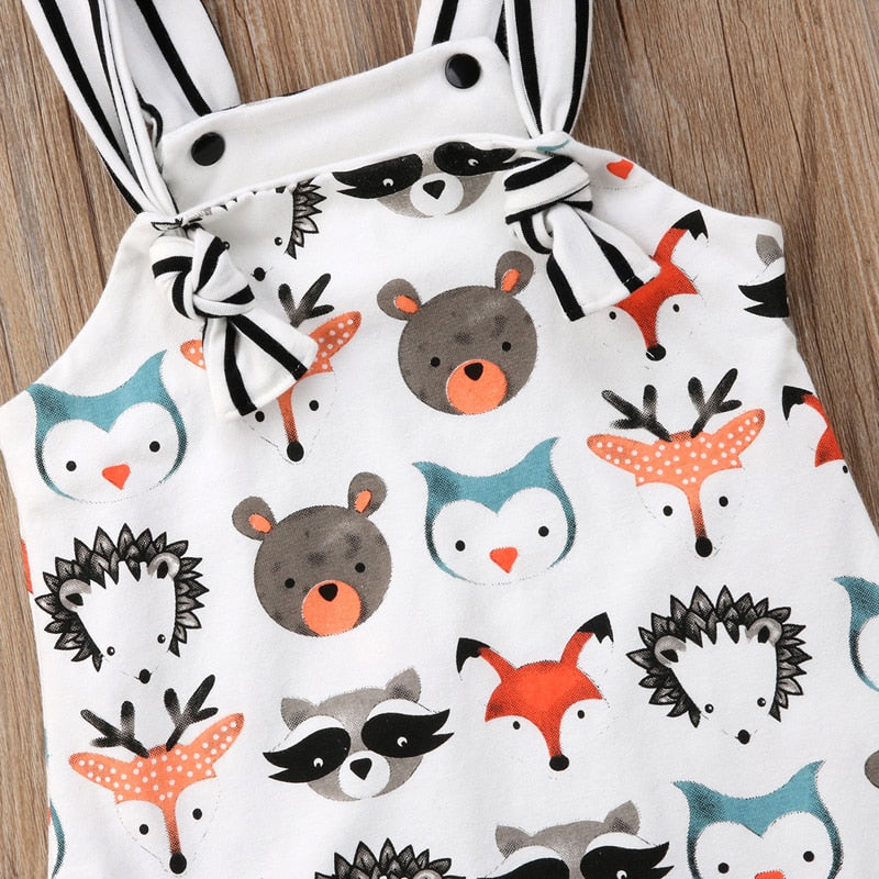 Cartoon Animals Cotton Summer Baby Jumpsuit