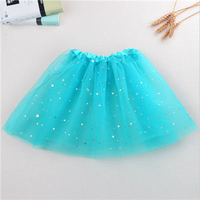 Girl Kids Tutu Star Sequins Princess Party Ballet Dance Skirt