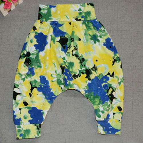 Harem Style Flower Cotton Trousers