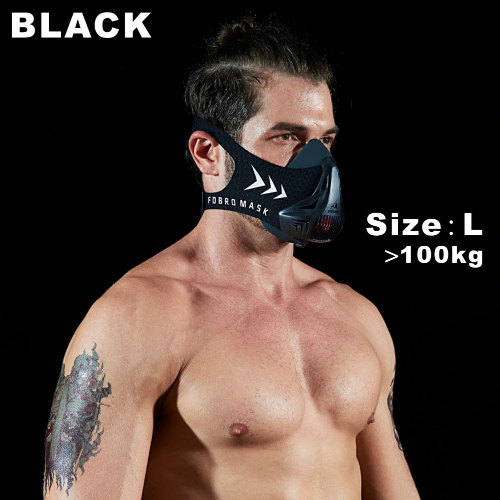 Mask To Improve Training & Endurance Unisex Pro Sports, Mask With Air Filtration