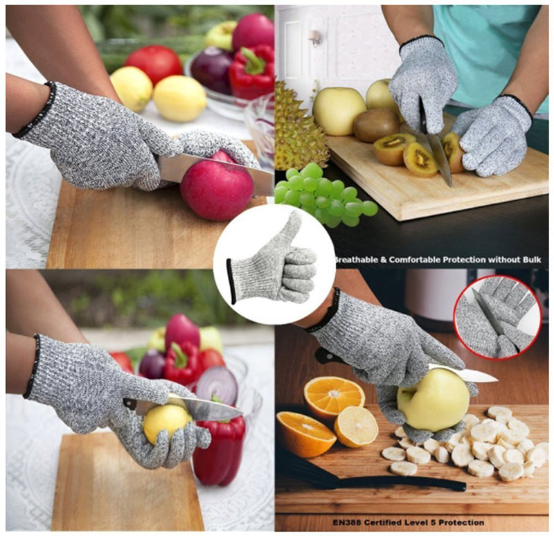 Anti-Cut Stab Resistant Stainless Steel Wire Mesh Safety Gloves For Working & Cooking