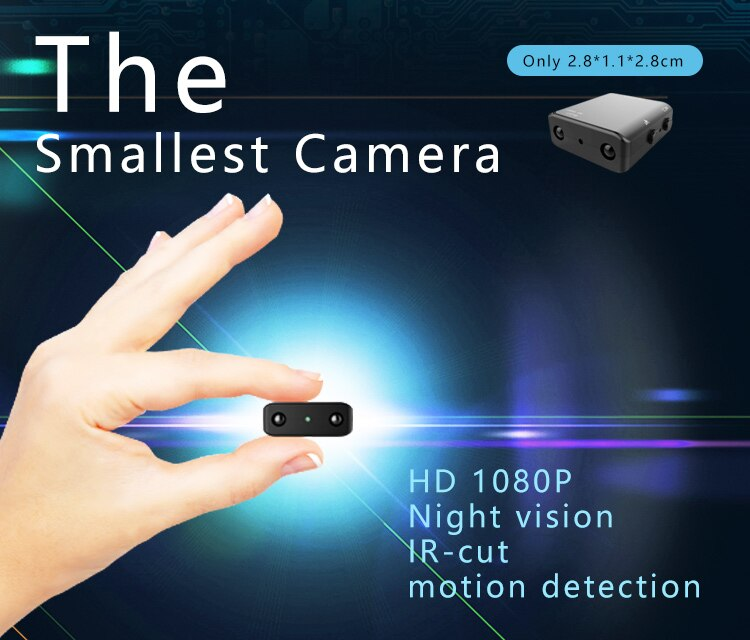 1080P Full HD XD IR-CUT Mini Camera Infrared Night Vision Smallest Camcorder