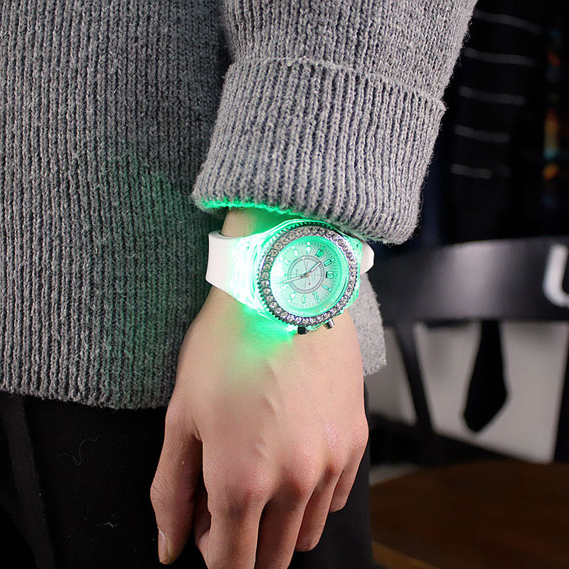 Funny Unisex Luminous LED Flash Lovers WristWatch