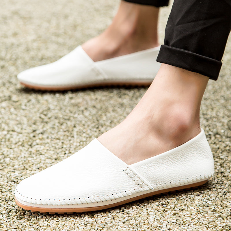 Brief Lazy Slip On Casual Flat Leather Moccasin Loafers