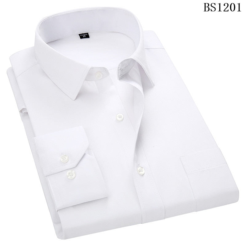 Plus Size Long Sleeved  Classic Striped Business Men's Shirt