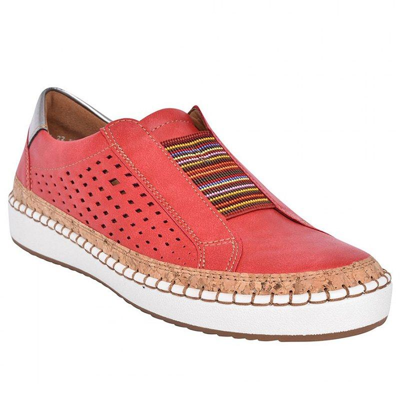 Breathable Retro Hollow Out  Hand-stitched Flat Women's Shoes