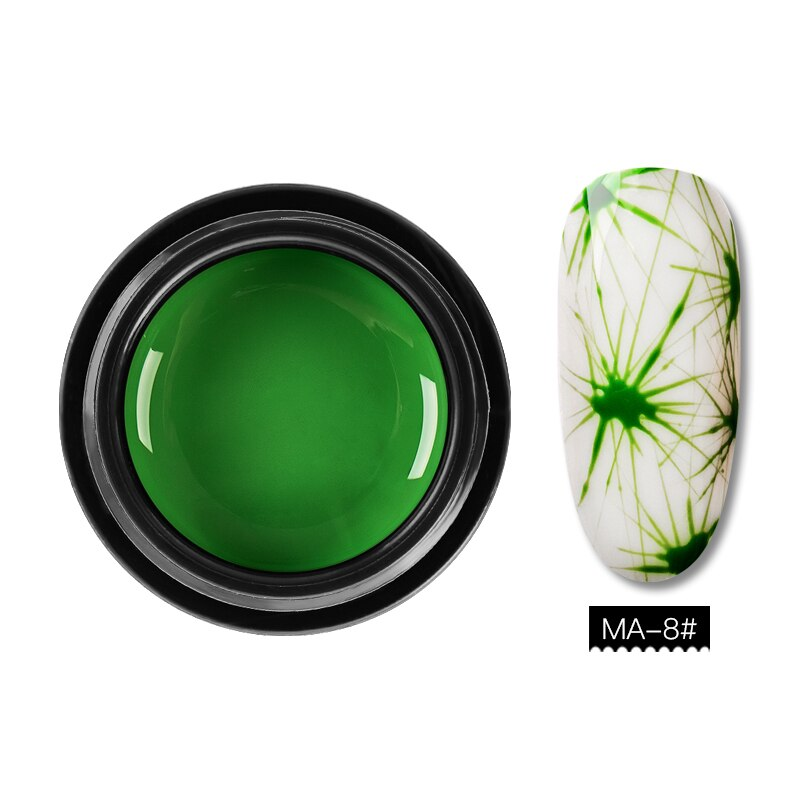 Creative Nail Spider Painting UV Gel Polish Nail Art