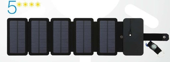 Portable 5V 2.1A USB Output 10W Folding Solar Panels Cells Charger