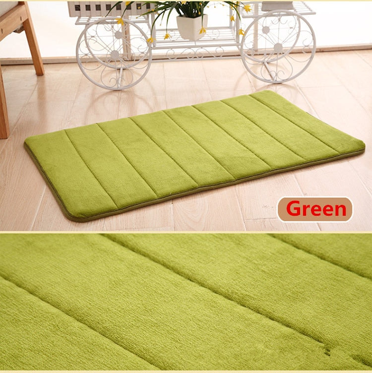40*60cm Water Absorption Skid-Resistant Memory Foam Bath Mat