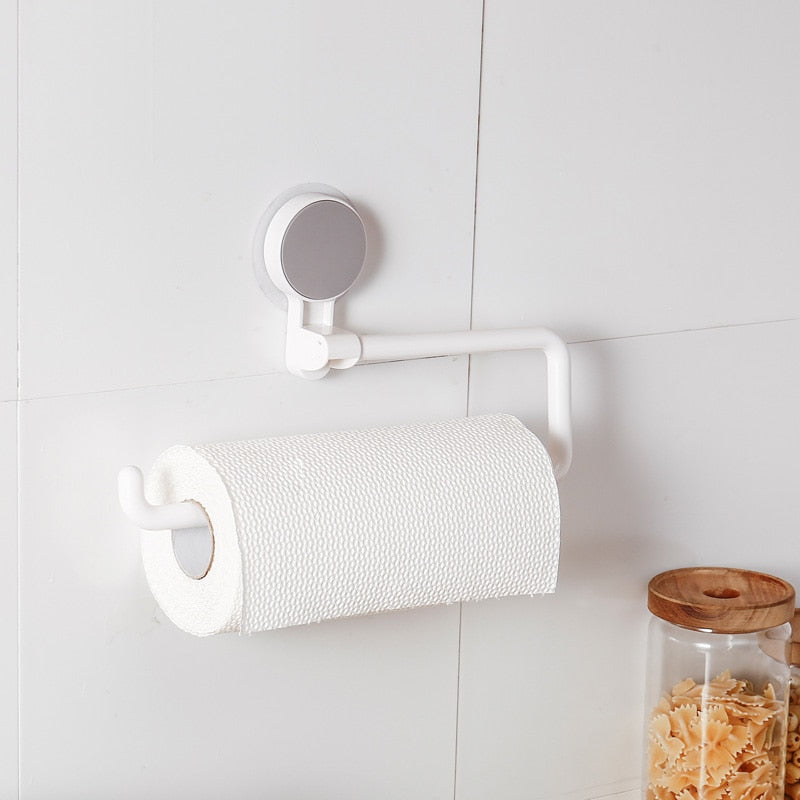 Multi-Function Rotating Towel & Paper Rack Roll Holder For Kitchen & Bathroom