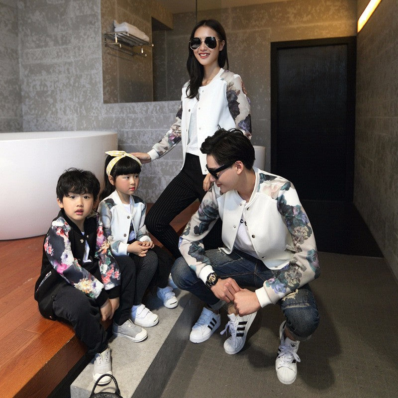 Fashion Cotton Floral Printed Family Look Jacket