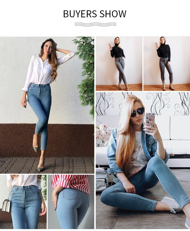 Vintage High Waist Skinny Denim Women's Jeans