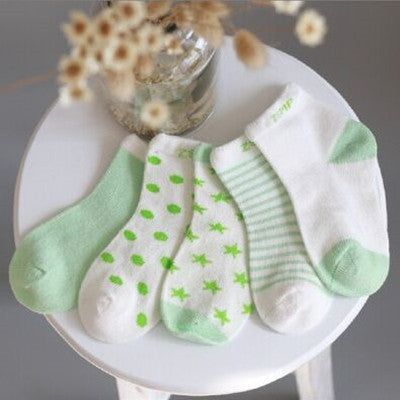5 Pairs Cotton New Born Baby Socks
