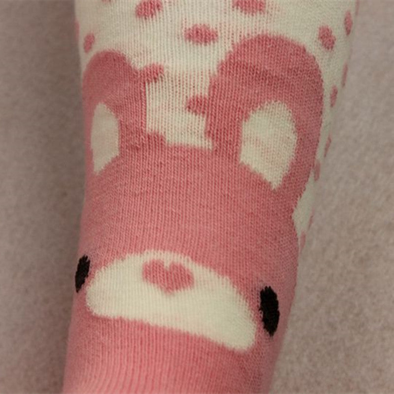 Cotton Knitting Baby Girls Tights Cartoon Style