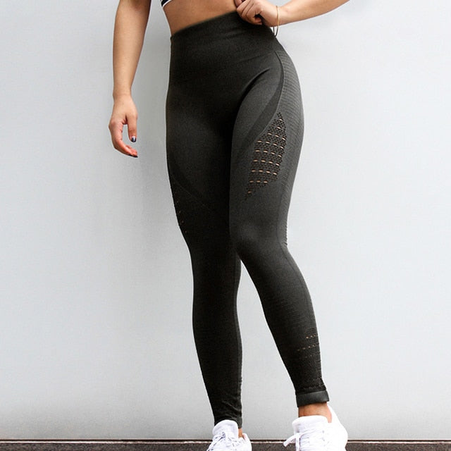 Stretchy Seamless Sports Compression Tights For Women