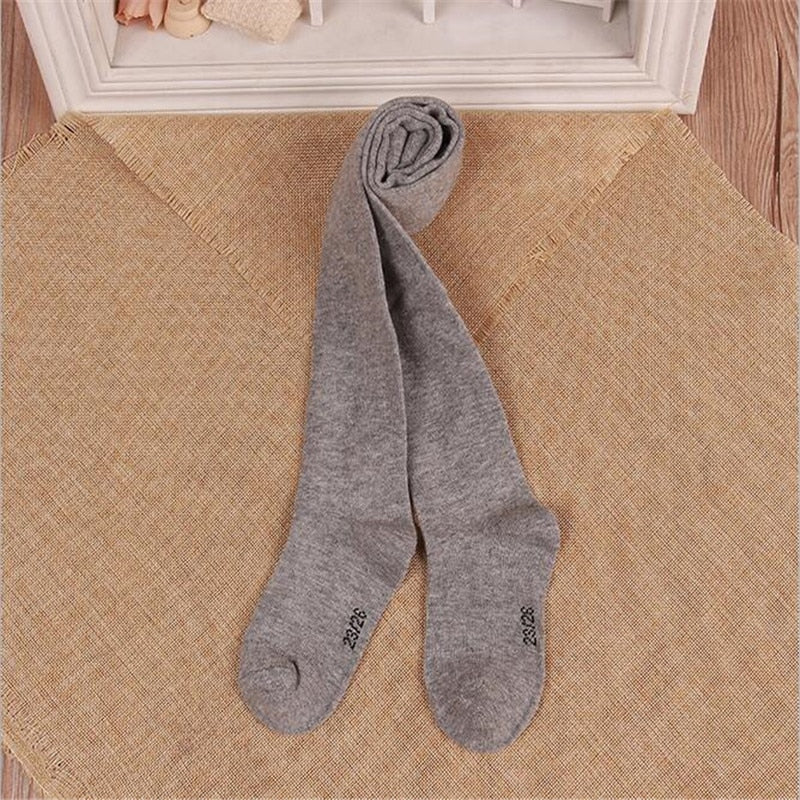 0-6Yrs Soft Knitted Cotton Girls Tights