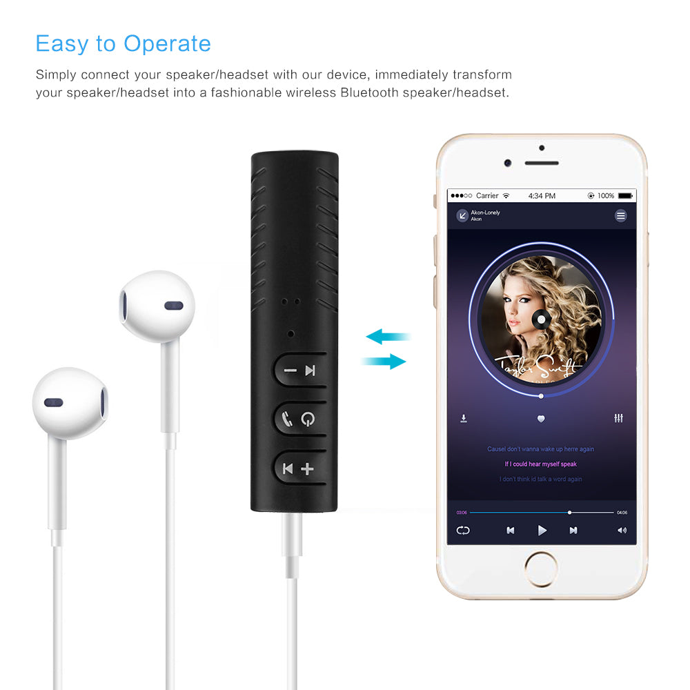3.5mm Bluetooth Audio Receiver & Handsfree Call Car Transmitter