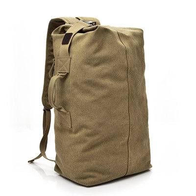 Large Capacity Canvas Mountaineering Men Rucksack