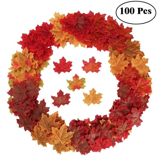 Beautiful Artificial Simulation Fall Maple Leaves For Home Decoration