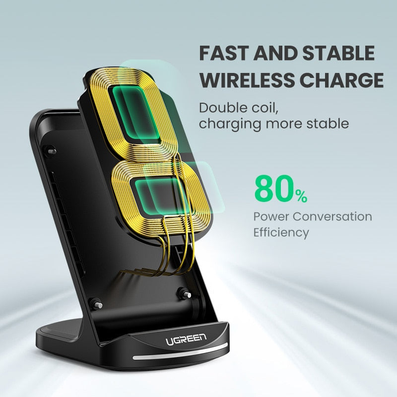 Universal Ugreen Qi Wireless Fast Charger Stand