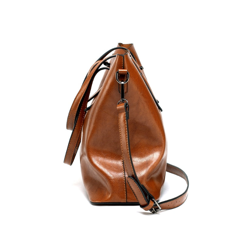 Large Capacity PU Leather Women Handbags
