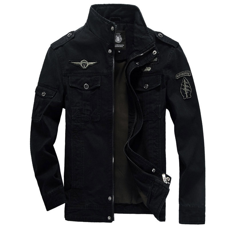 Army Style Cotton Military Bomber Jacket For Men