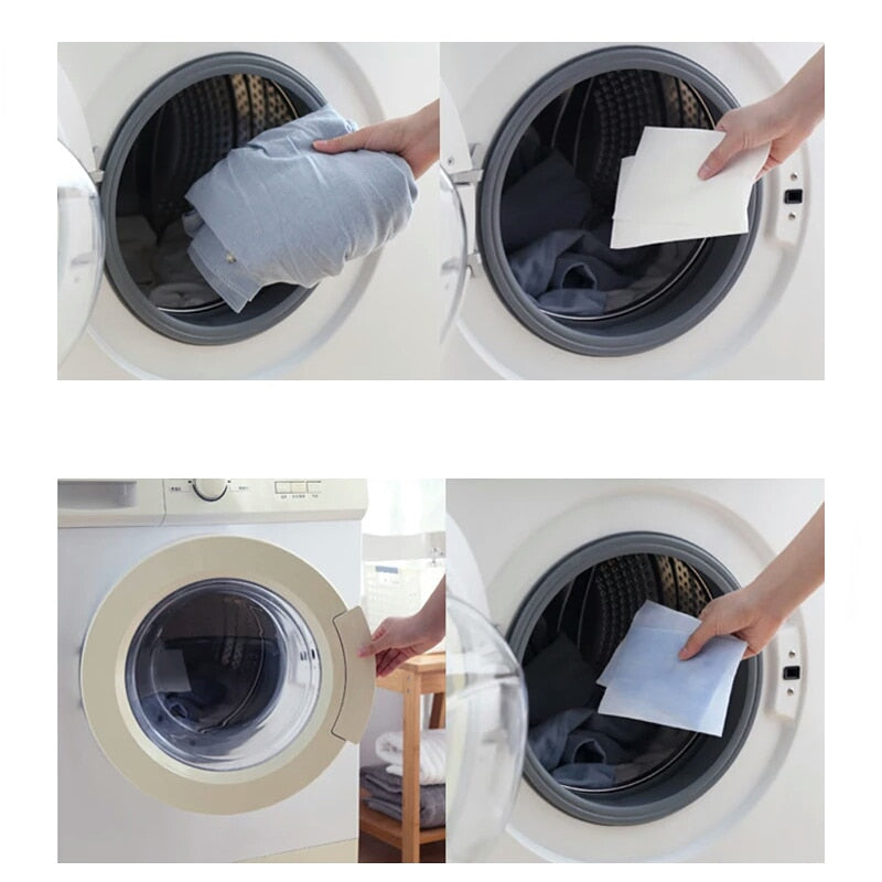 24Pcs Anti Dyed Cloth For Washing Machine
