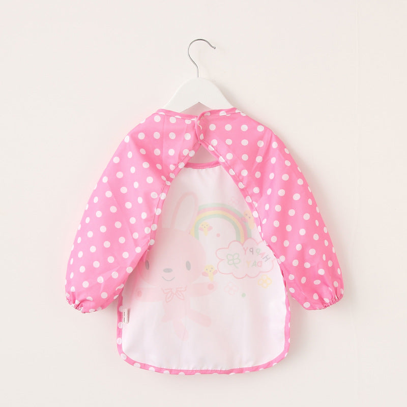 Long Sleeve Waterproof Feeding Baby Bibs For Lunch 0-3 Years