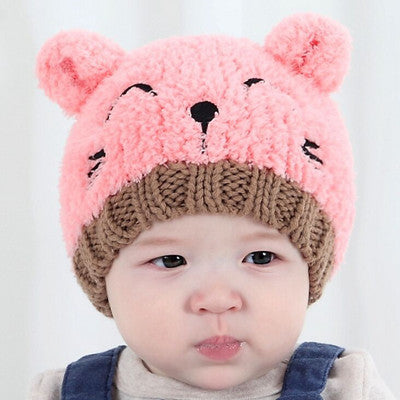 Cute Cat Crochet Knitted Baby Caps and Scarves