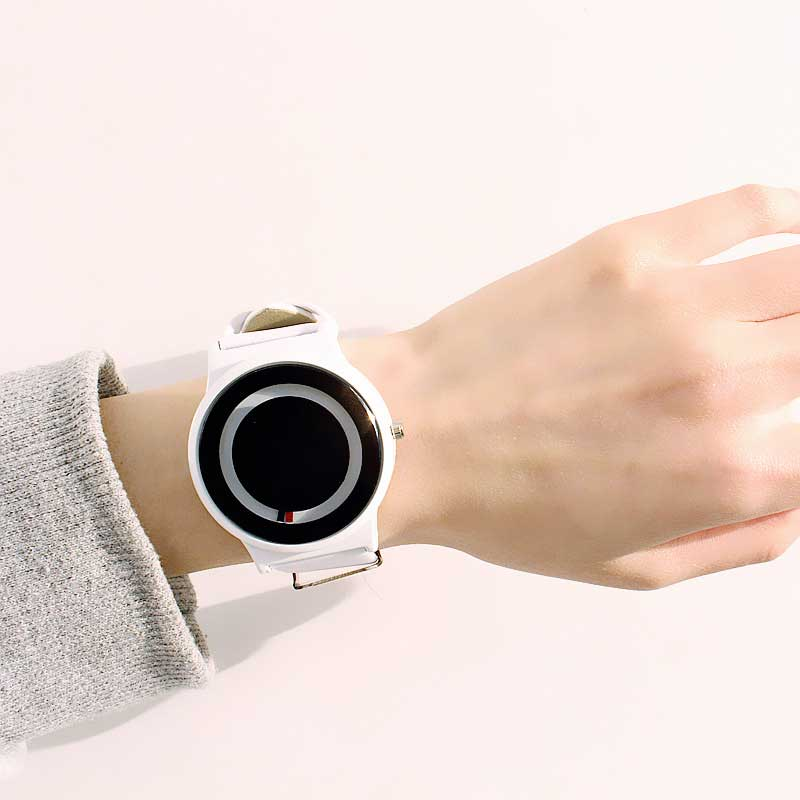 Unisex No-Pointer Concept Quartz Watch