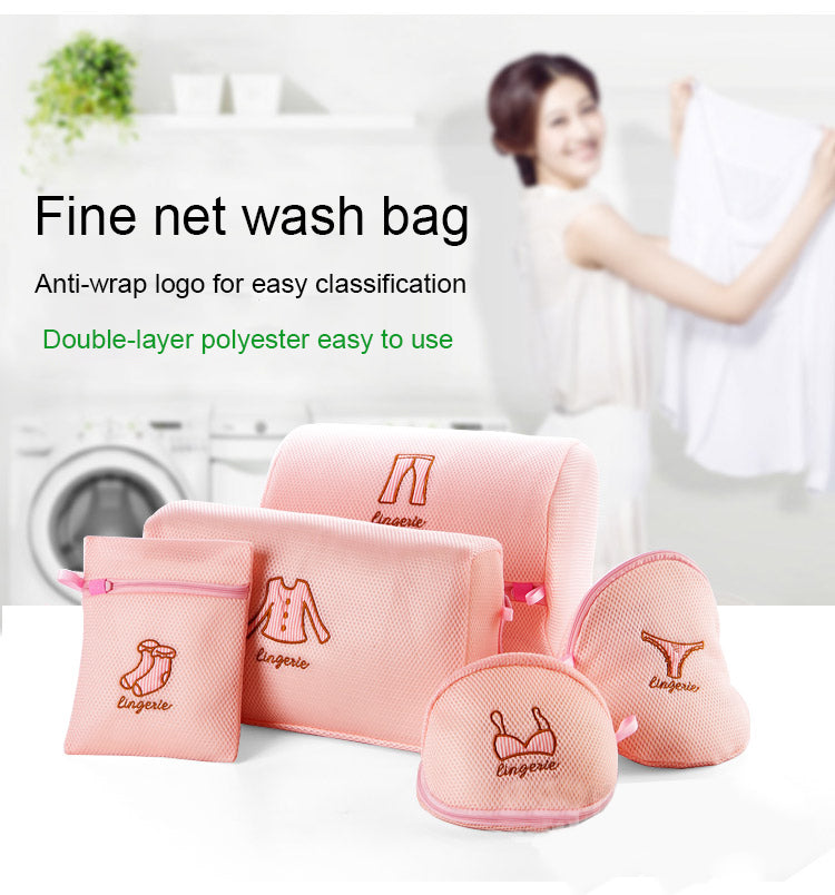 Foldable Zippered Mesh Laundry Wash Bags