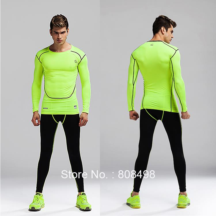 Fitness Men Compression Tight Jerseys