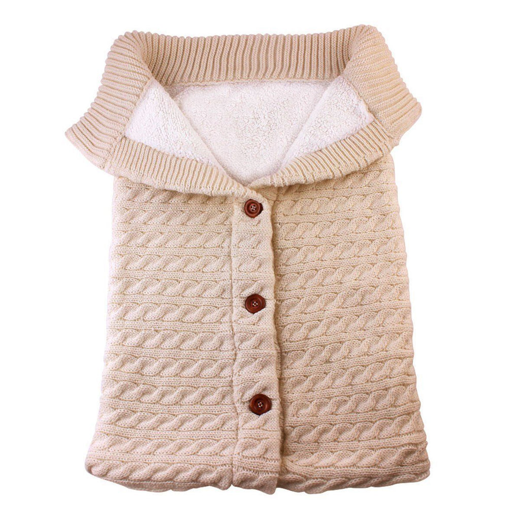 Warm Button Knitted Baby Winter Sleeping Bag