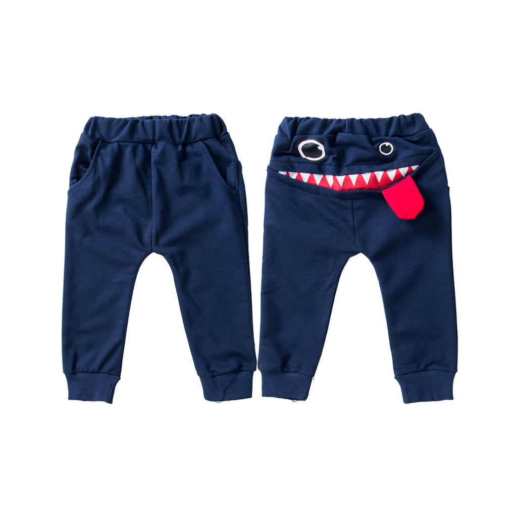 Big Mouth Monster Cotton Baby Boys Pant