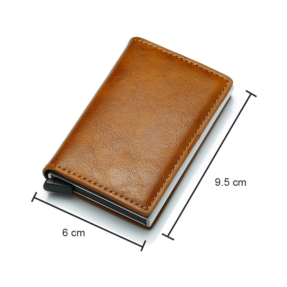 RFID Carbon Fiber Card Holder Small Wallet For Men