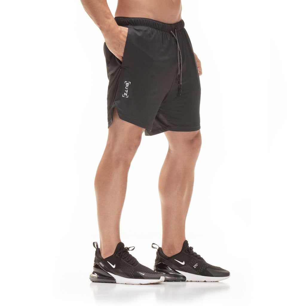 Quick Drying 2 In 1 Men's Running Shorts With Security Pockets
