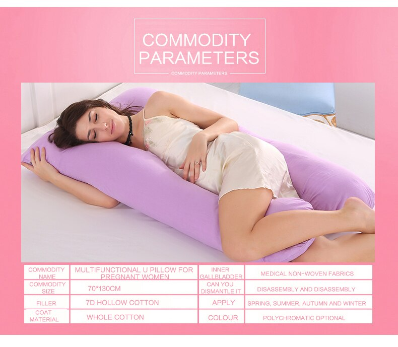 Multi-Function U Shape Cotton Sleeping Support Pillow For Pregnant