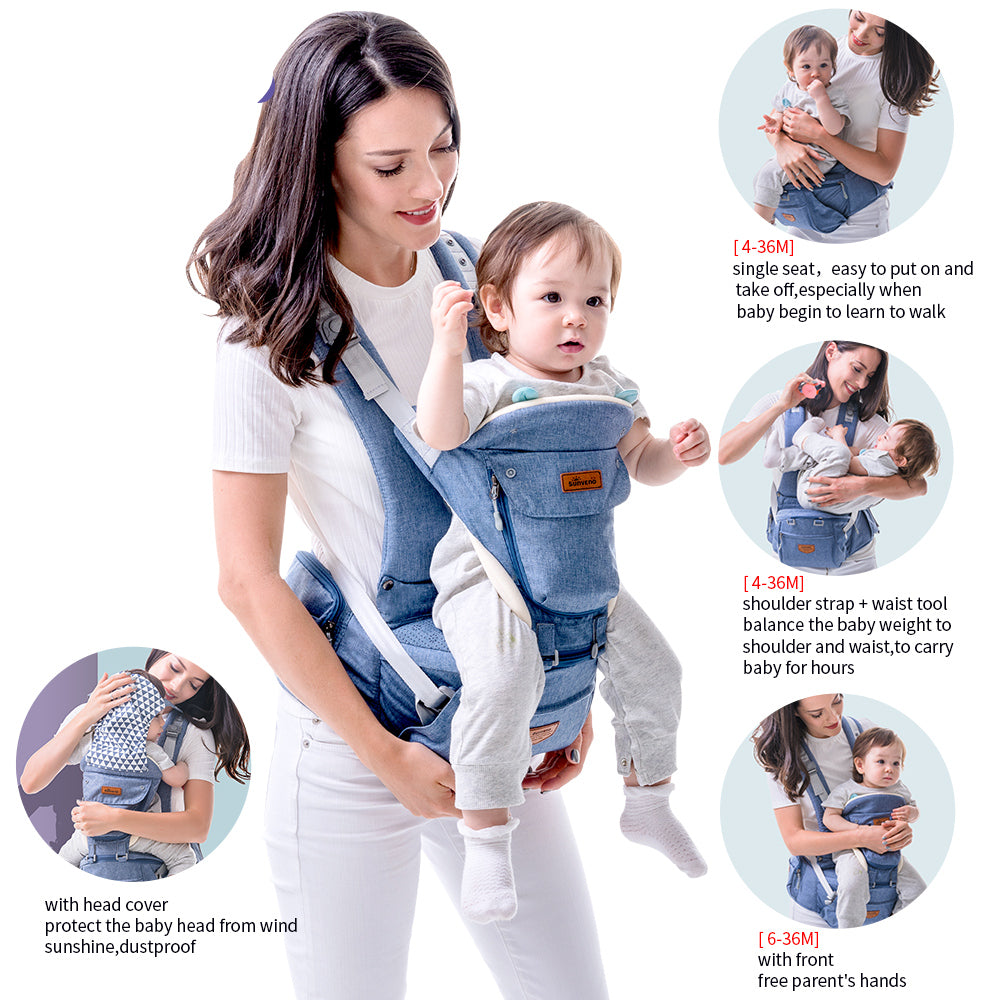 Ergonomic Kangaroo 0-36M Baby Carrier With Front Facing