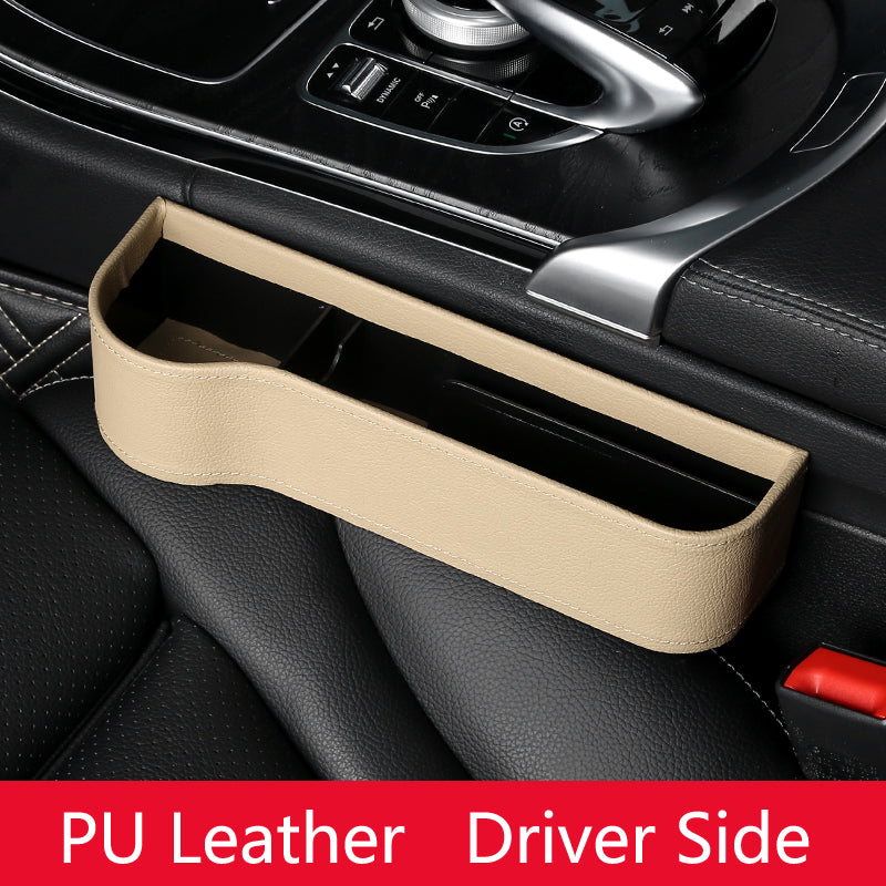 PU Leather Car Seat Gap Organizer & Storage Box
